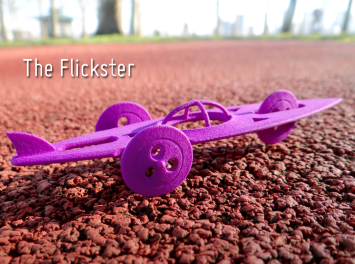 The Flickster 3d printed