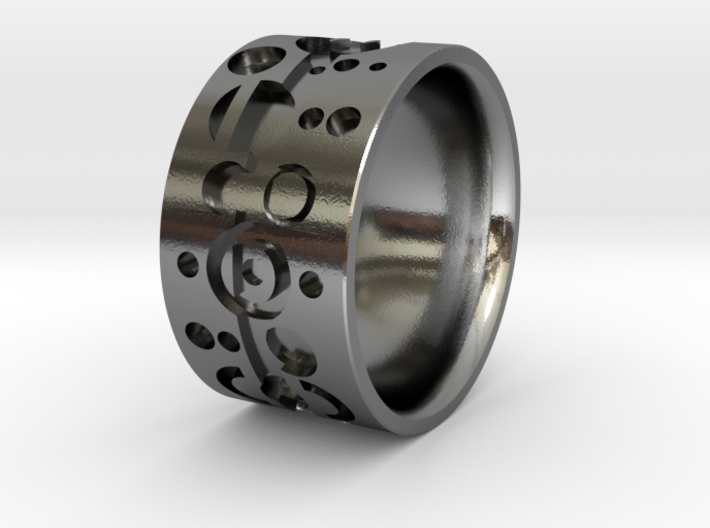 Gallifreyish Ring - Size 9 3d printed