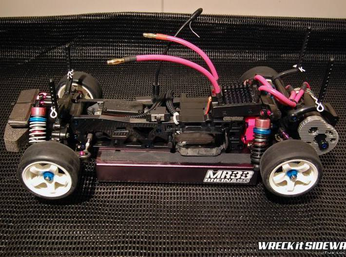 Tamiya M04RR Conversion Spacer 3d printed Finished chassis in medium wheelbase.