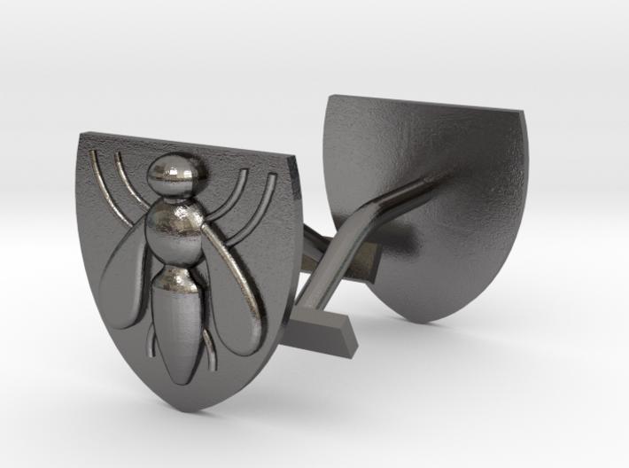 Bee (industry) cufflinks 3d printed