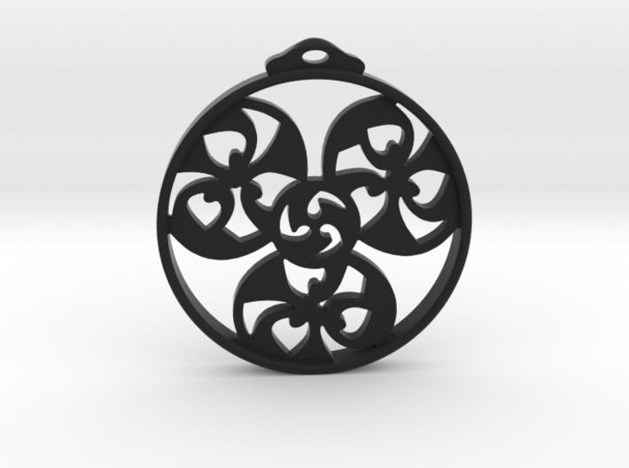 Triskele Pendant / Earring 3d printed