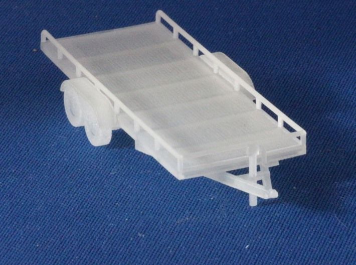 Flatbed trailers and trailer frames X4 HO Scale 1/ 3d printed Add a caption...