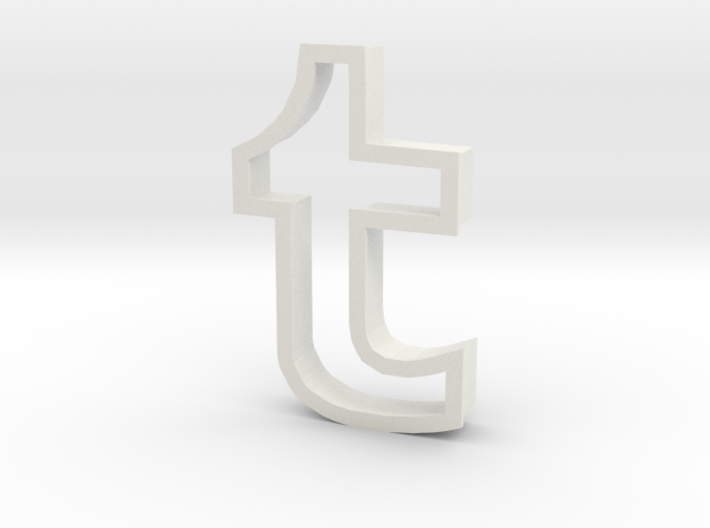 Tumblr logo cookie cutter 3d printed