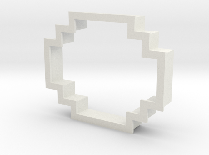 pixely cookie cutter 3d printed