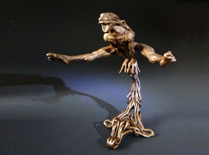 "Yippie  3d printed ""Yippie"" 3D printed sculpture , printed in matte bronze steel"