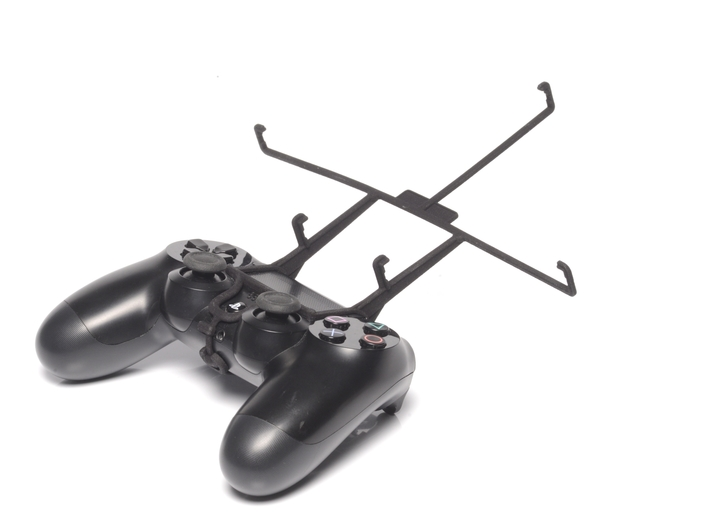 PS4 controller & Lenovo Miix 3d printed Without phone - A Nexus 7 and a black PS4 controller