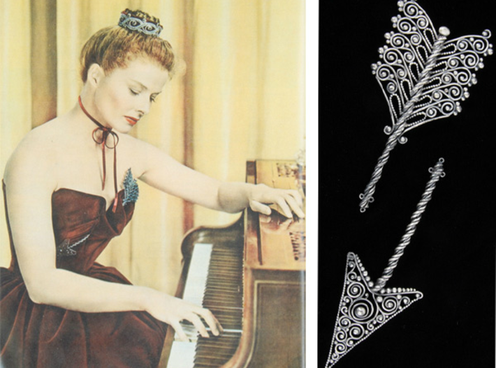 Joseff of Hollywood Arrow Brooch 3d printed The inspiration! Joseff of Hollywood 1947 brooch
