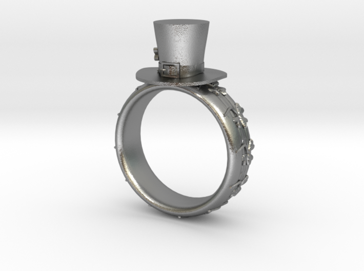 St Patrick's hat ring(size = USA 5) 3d printed