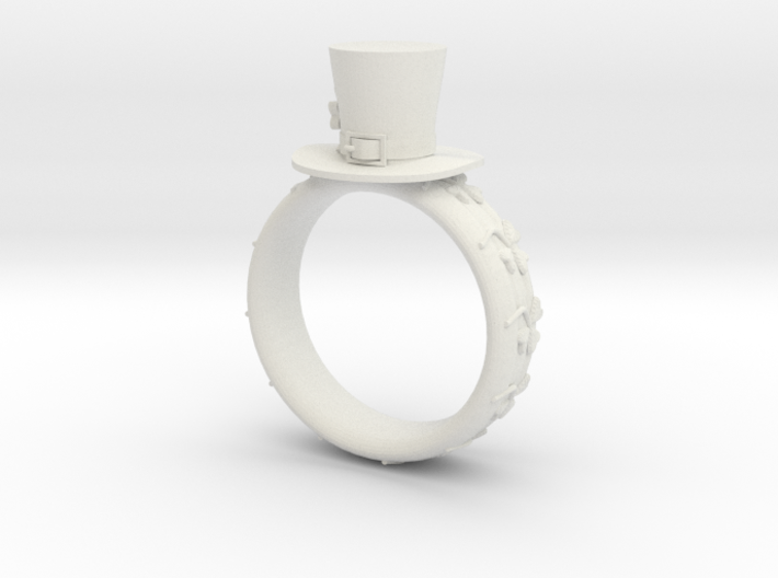St Patrick's hat ring( size = USA 6.5) 3d printed