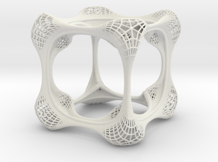 filigree cube 3d printed