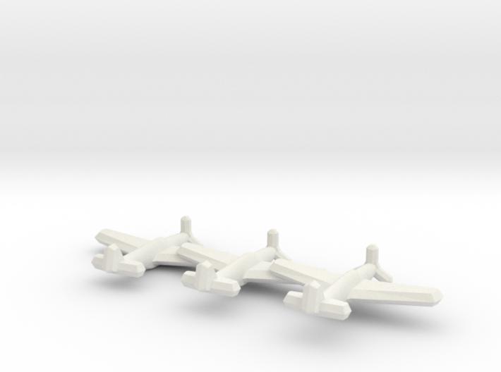 P-51A/Mustang II (Triplet) 1/900 3d printed