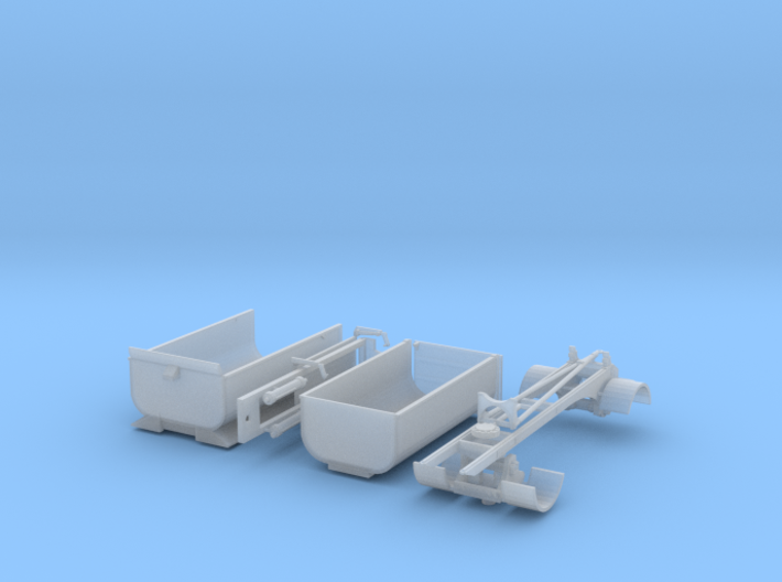 1/87th HO Transfer dump truck and trailer 3d printed