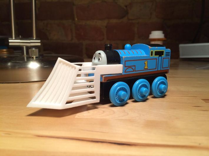 Snowplow compatible with Thomas the Tank engine. 3d printed