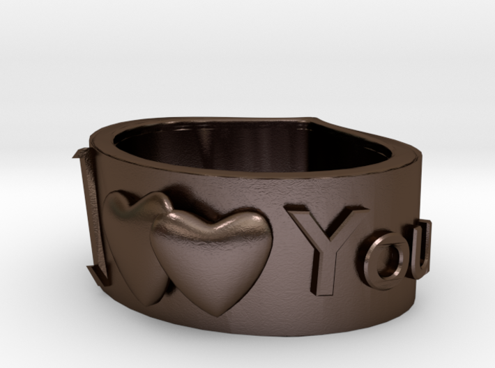 Ring I LoveYou 3d printed