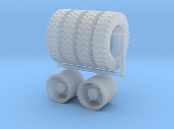 "1:64 22.5"" Dayton Rear wheels & 22.5"" Gripper tire 3d printed"