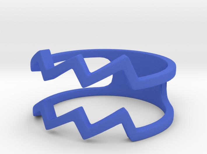 Aquarius Sign Ring 3d printed