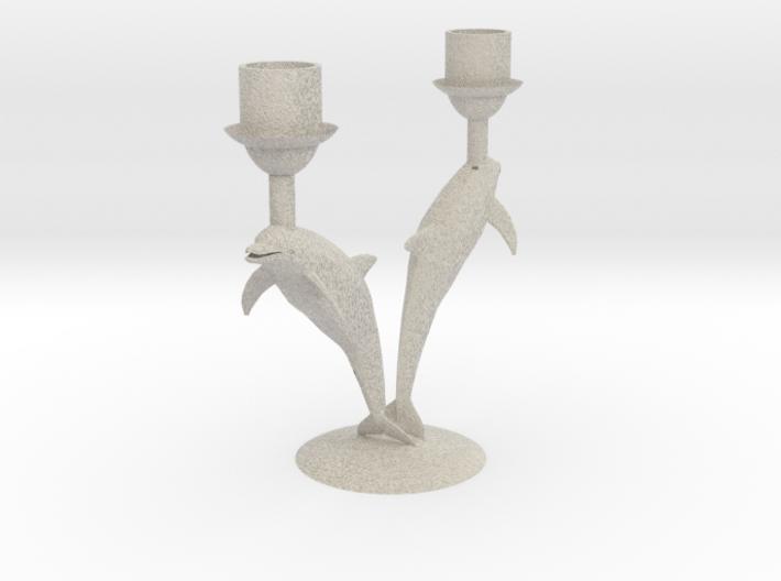 Delphin Candlestick / Dolfijnkandelaar Ø 21 mm 3d printed