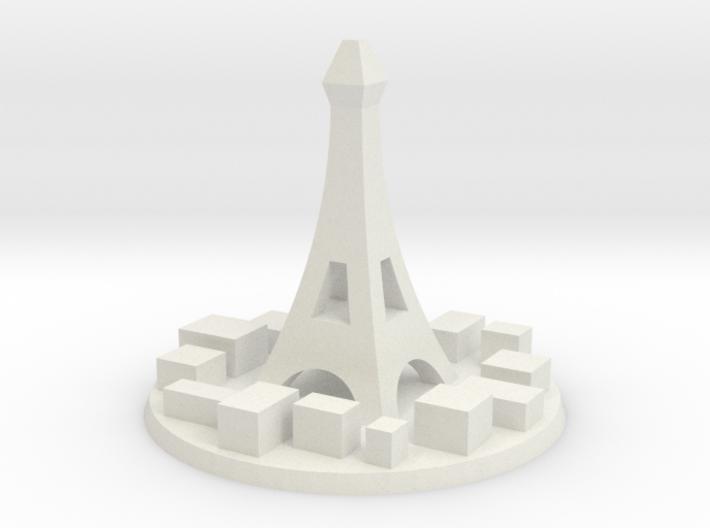 Paris City Marker 3d printed