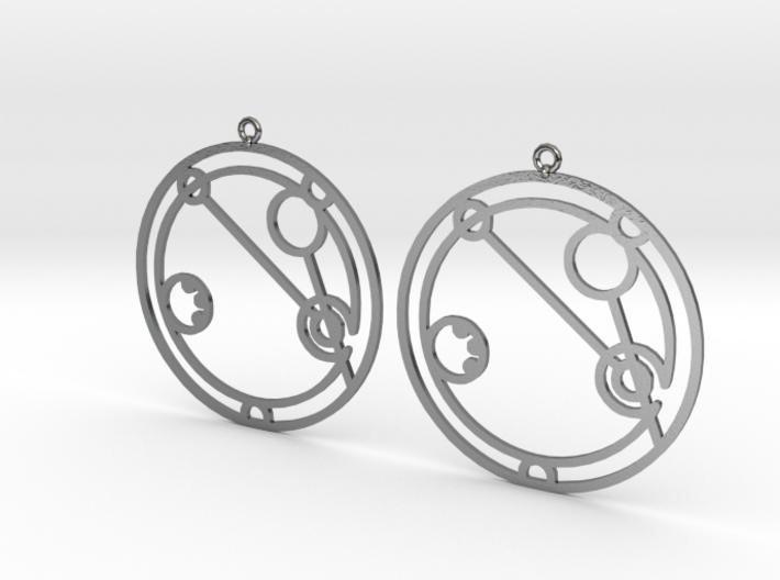 Abigail - Earrings - Series 1 3d printed