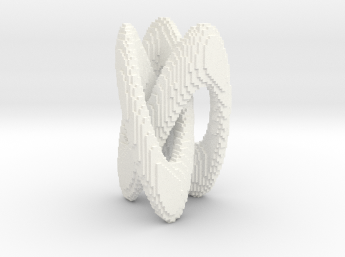 Trifold Knot - Pixelated 3d printed