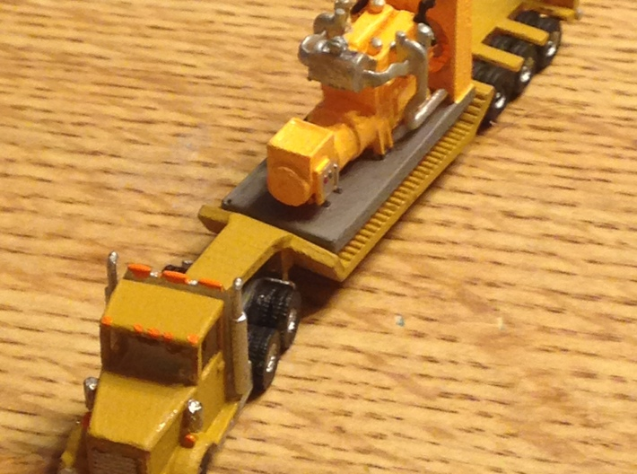 Kenworth Semi Truck Z Scale 3d printed KW Semi Truck Z scale