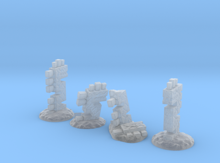 Serpent Columns (15mm high) 3d printed