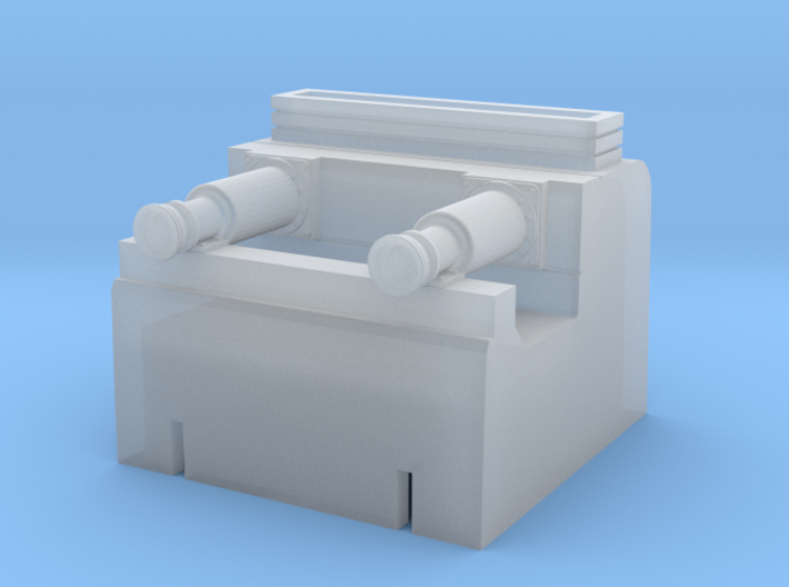 2mm:ft scale hydraulic buffer stop 3d printed