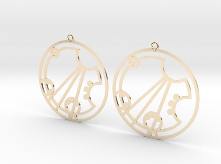 Darcey / Darsey - Earrings - Series 1 3d printed