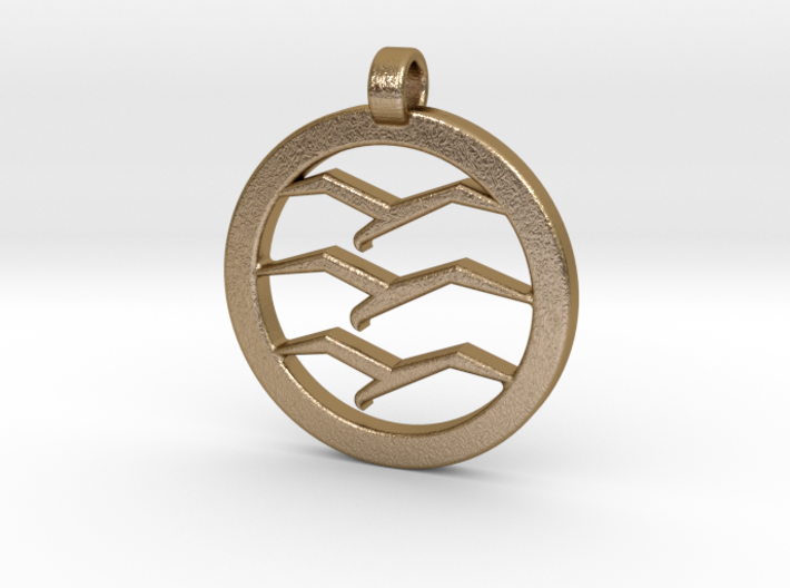 Gliding Badge Pendant 3d printed