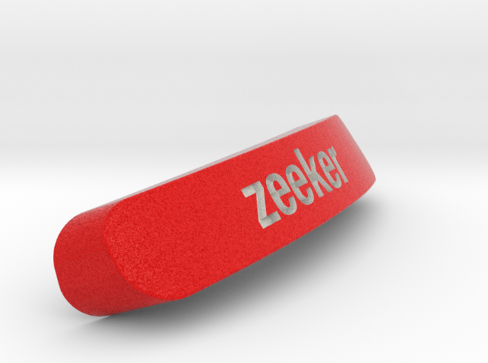 Zeeker Nameplate for SteelSeries Rival 3d printed