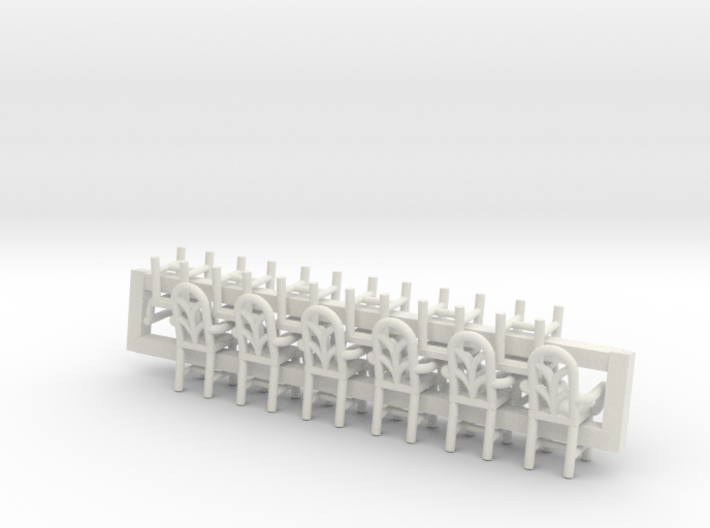 6 Cafe W Arms X12 HO Scale 3d printed