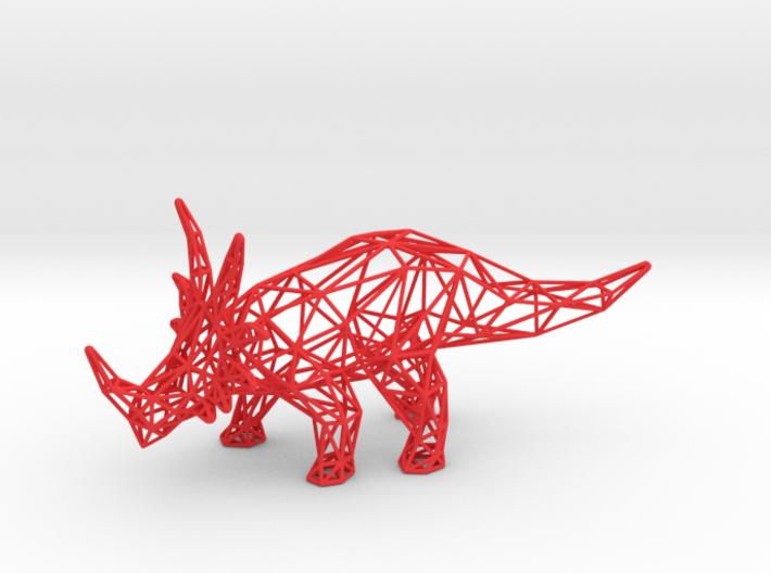 Styracosaurus Wireframe 3d printed