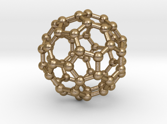 Truncated Icosahedron (bucky ball) 3d printed