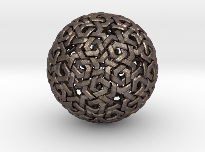 Truncated Icosahedreon Double Weave 3d printed