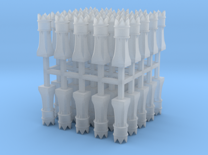 50x 2mm Scale Macunian Maji chimney pots 3d printed
