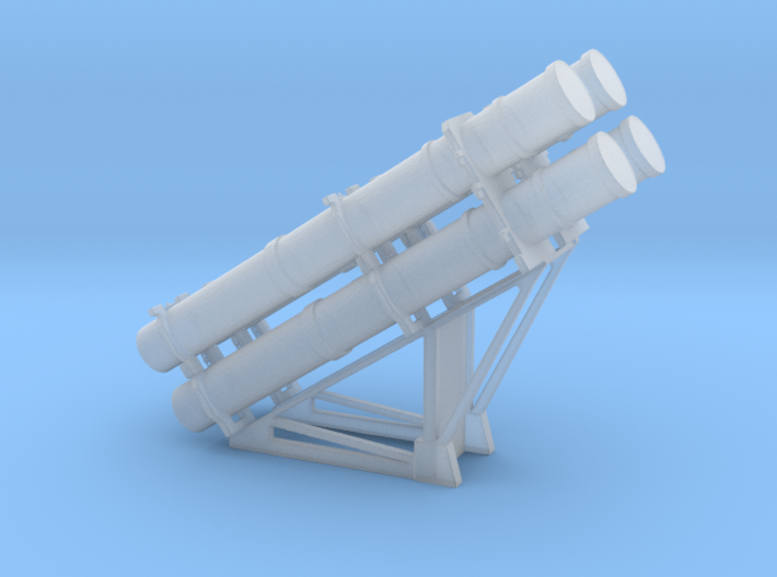 Harpoon missile launcher 4 pod 1/144 3d printed