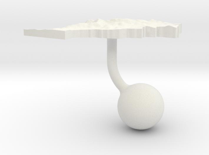 Morocco Terrain Cufflink - Ball 3d printed