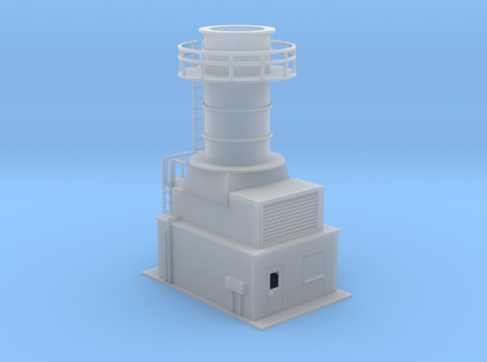 Sub Station Gas Turbine Generator N Scale 3d printed