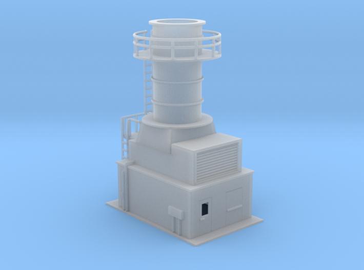 Sub Station Gas Turbine Generator N Scale 3d printed