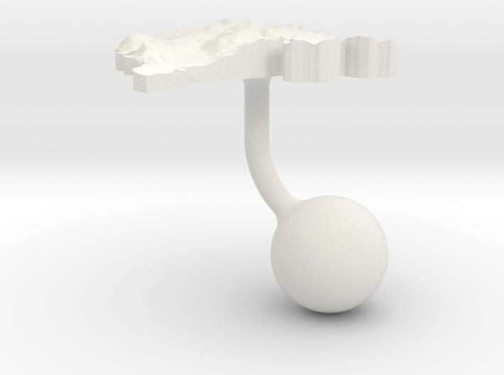 Montenegro Terrain Cufflink - Ball 3d printed