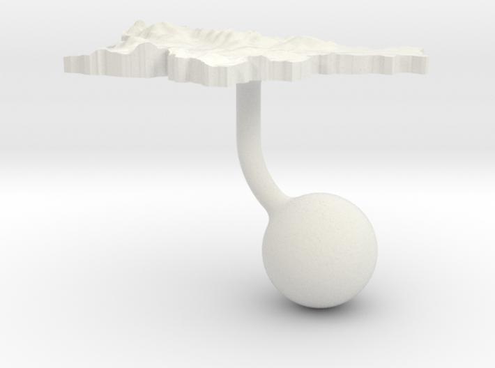 Slovenia Terrain Cufflink - Ball 3d printed