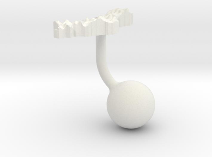 Albania Terrain Cufflink - Ball 3d printed