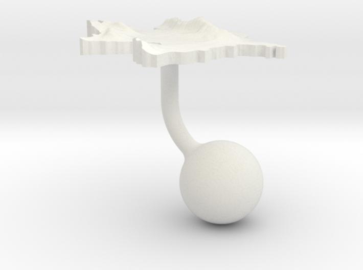 Azerbaijan Terrain Cufflink - Ball 3d printed