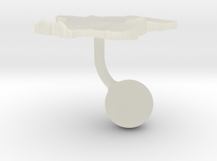 France Terrain Cufflink - Ball 3d printed