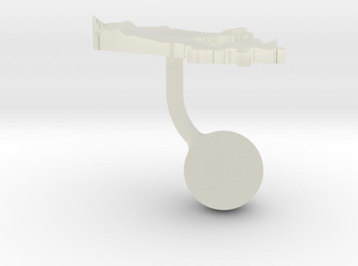 Canada Terrain Cufflink - Ball 3d printed