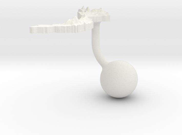 Vietnam Terrain Cufflink - Ball 3d printed