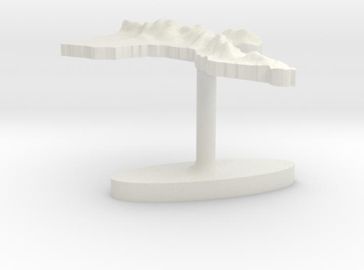Papua New Guinea Terrain Cufflink - Flat 3d printed