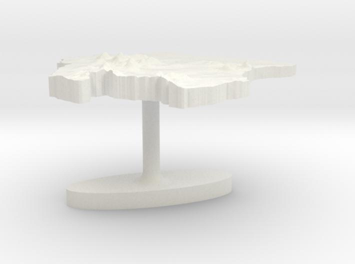 Suriname Terrain Cufflink - Flat 3d printed