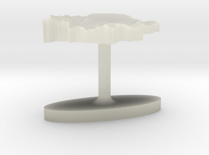 Serbia Terrain Cufflink - Flat 3d printed