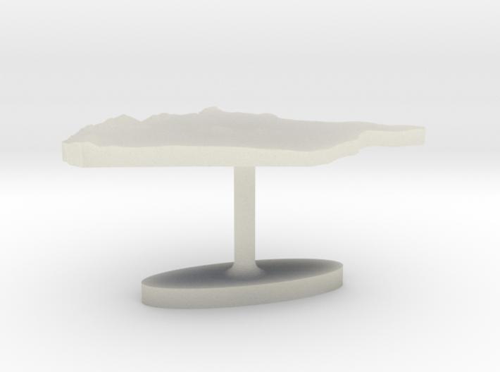 Syria Terrain Cufflink - Flat 3d printed